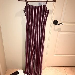 Red/white stripped jumpsuit